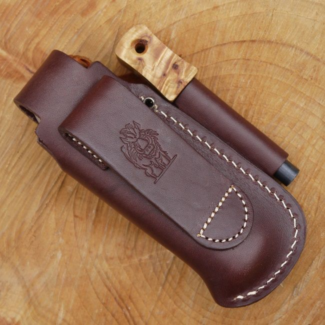 Tbs Leather Large Folding Knife Pouch With Firesteel Loop